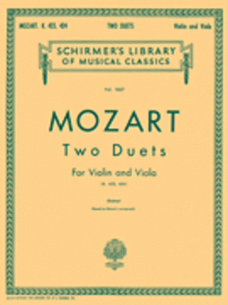 Two Duets for Violin and Viola, K. 423 and K. 424