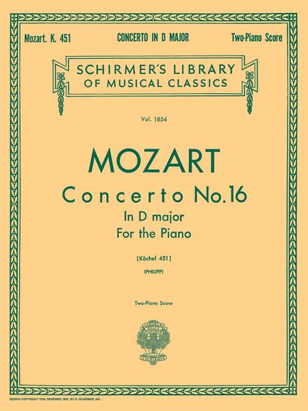 Concerto No. 16 in D, K.451