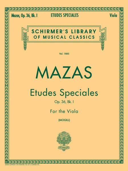 Etudes Speciales, Op. 36 - Book 1 - Viola