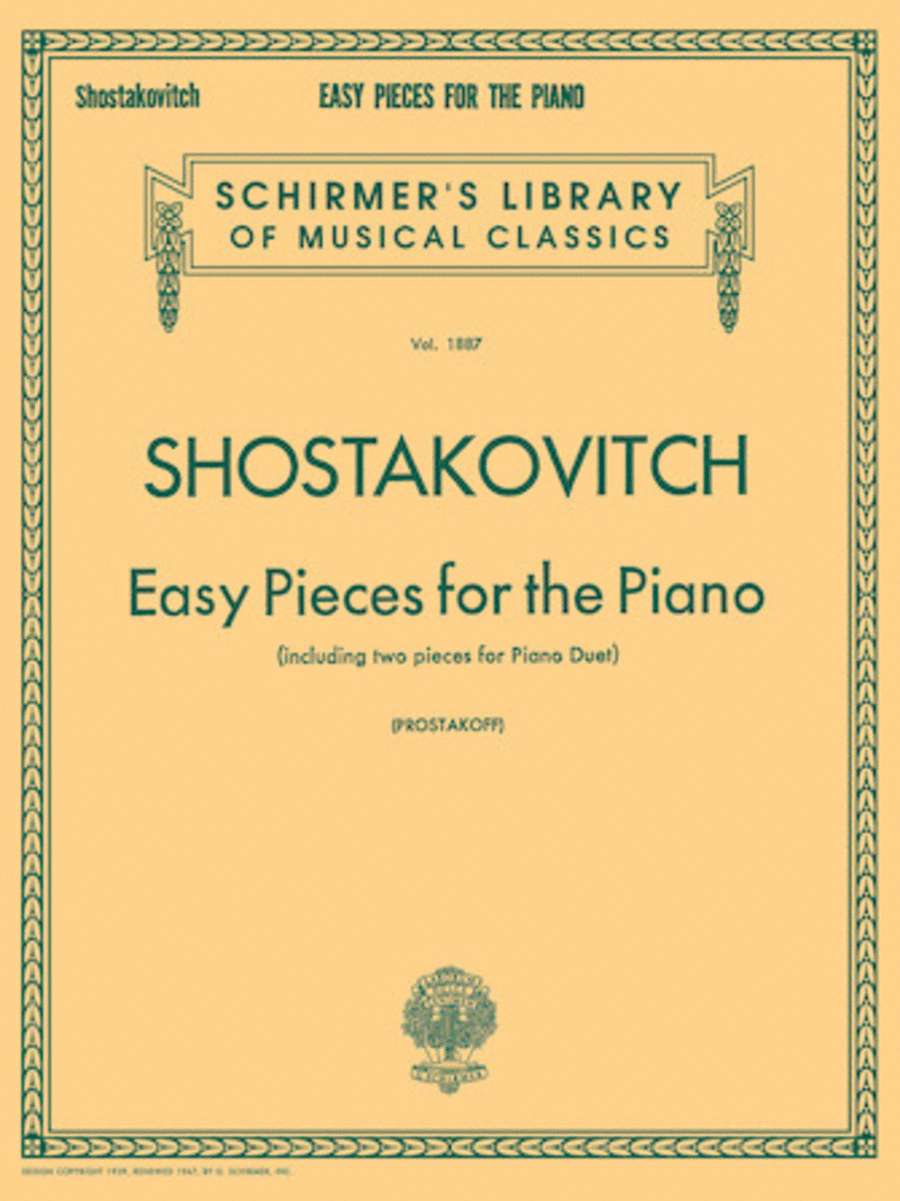 Easy Pieces for the Piano (including 2 Pieces for Piano Duet)