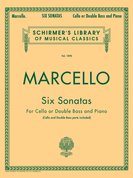 Six Sonatas - Cello or Double Bass and Piano