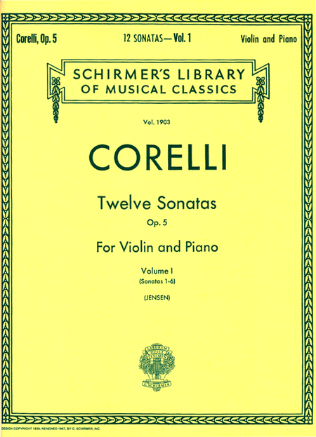 Twelve Sonatas, Op. 5 - Volume 1