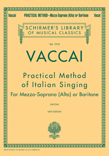 Practical Method of Italian Singing - Mezzo Soprano (Alto) or Baritone