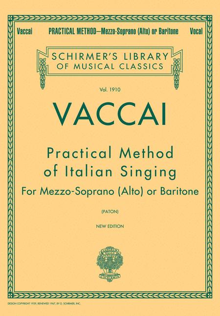 Practical Method of Italian Singing - Mezzo Soprano (Alto) or Baritone
