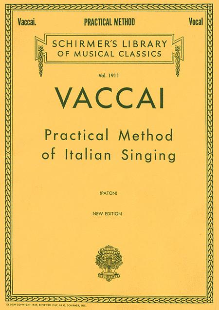 Practical Method of Italian Singing - High Soprano