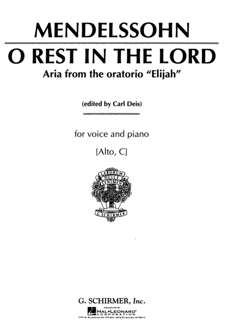 O Rest in the Lord (from Elijah)