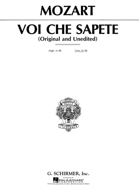 Voi che sapete (from Le Nozze di Figaro)