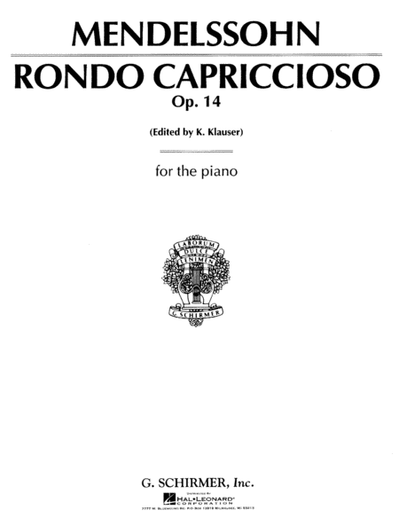 Rondo Capriccioso, Op. 14 for Piano