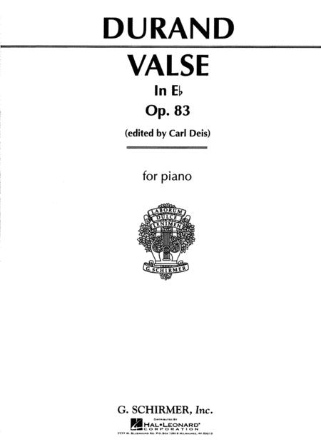 Valse in E Flat, Op. 83
