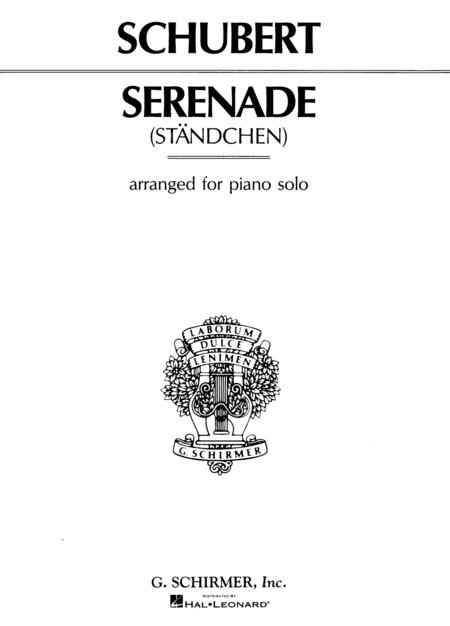 Standchen - Serenade - Piano Solo