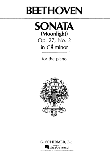Sonata In C# Minor, Op. 27, No. 2