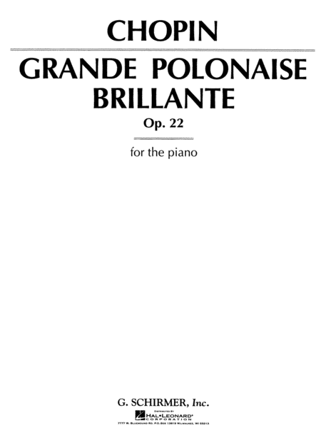 Grand Polonaise Brillante, Op. 22 in Eb Major