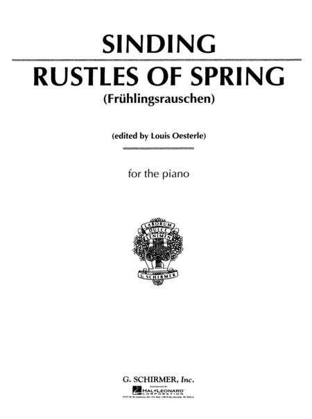 Rustles of Spring, Op. 32, No. 3 (Fruhlingsrauschen)