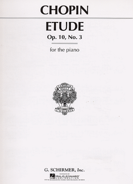 Etude, Op. 10, No. 3 In E Major