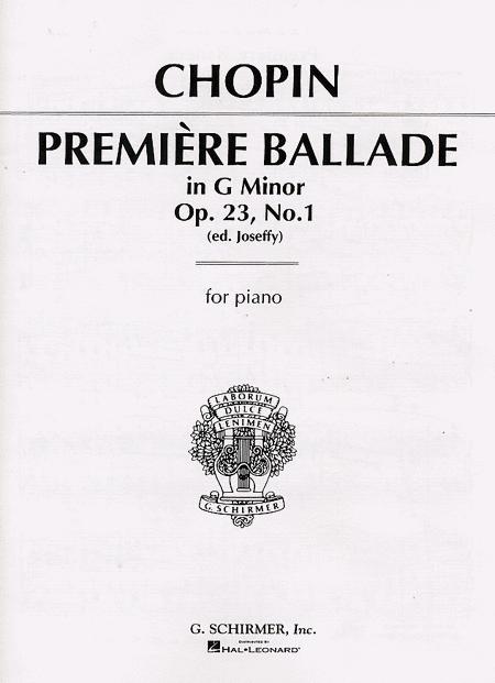 Premiere Ballade, Op. 23, No. 1