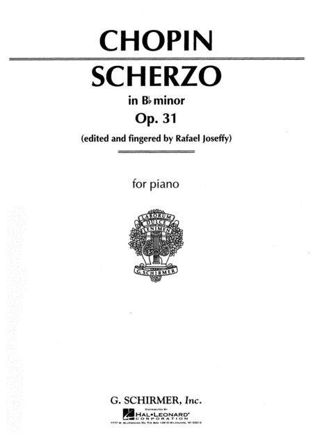 Scherzo, Op. 31 in Bb Minor
