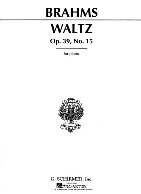 Waltz in Ab Major, Op. 39, No. 15