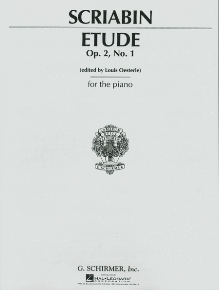 Etude In C# Minor, Op. 2, No. 1 - Piano Solo