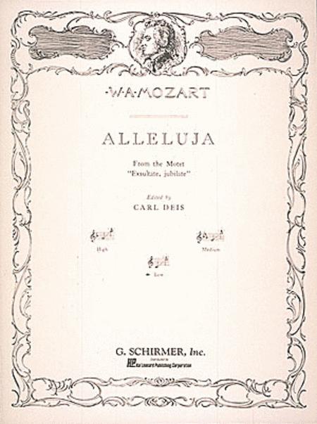 Alleluia (from Exsultate, jubilate)