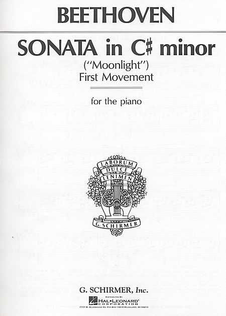 Sonata in C# Minor, Op. 27, No. 2 (Moonlight) - 1st Movement Only