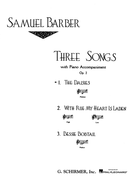 The Daisies, Op. 2, No.1
