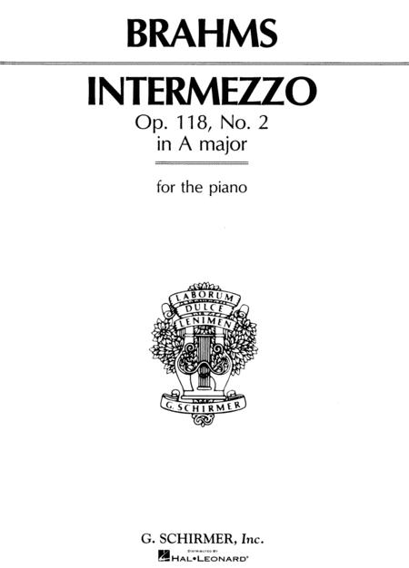 Intermezzo In A Major, Op. 118, No. 2