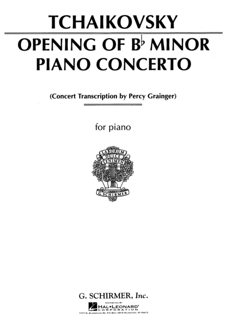 Concerto in Bb Minor (Opening)
