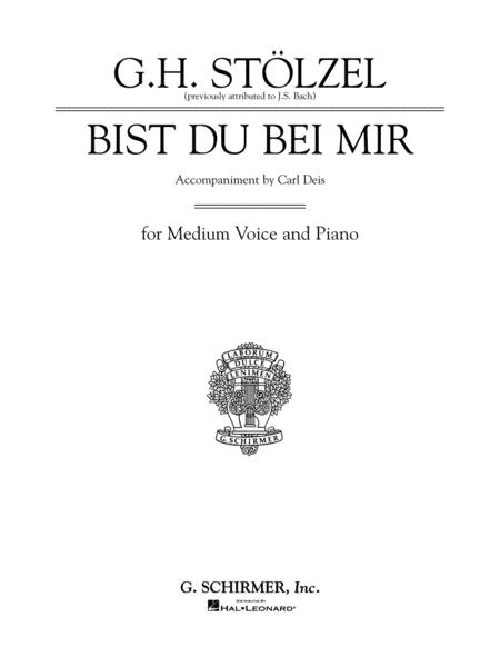 Bist Du Bei Mir - Thou Art My Joy - Medium Voice