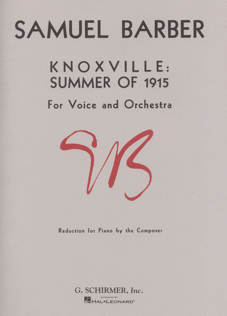 Knoxville - Summer of 1915