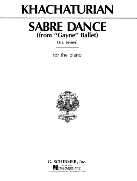 Sabre Dance - Piano Solo