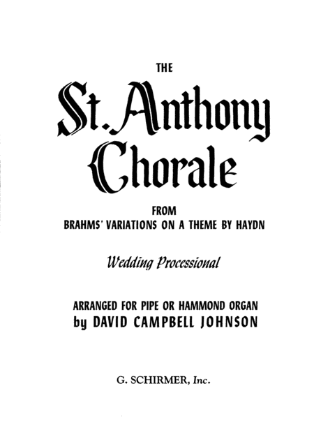 St. Anthony Chorale (from Variations on a Theme by Haydn)