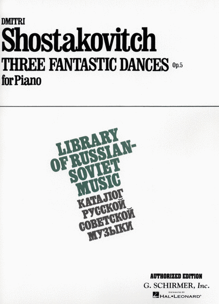 3 Fantastic Dances, Op. 5