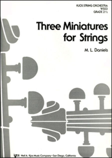 Three Miniatures For Strings - Score