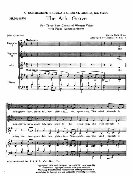 Ash Grove  Welsh Folk Song