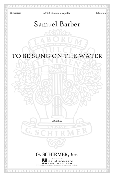 To Be Sung on the Water Op. 42, No. 2