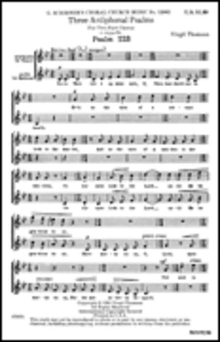 3 Antiphonal Psalms (Psalms 123, 133, 136)