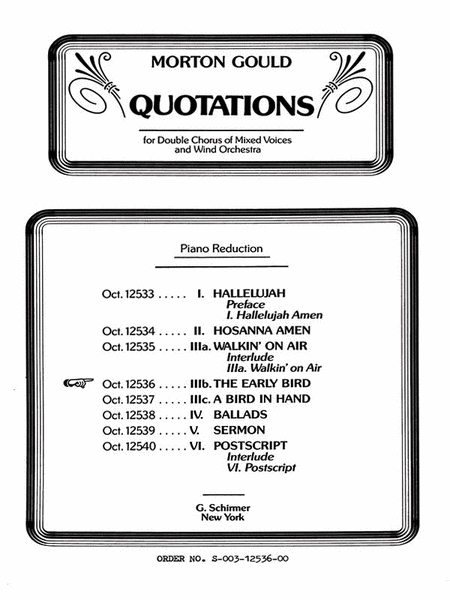 Early Bird From Quotations With Orchestra