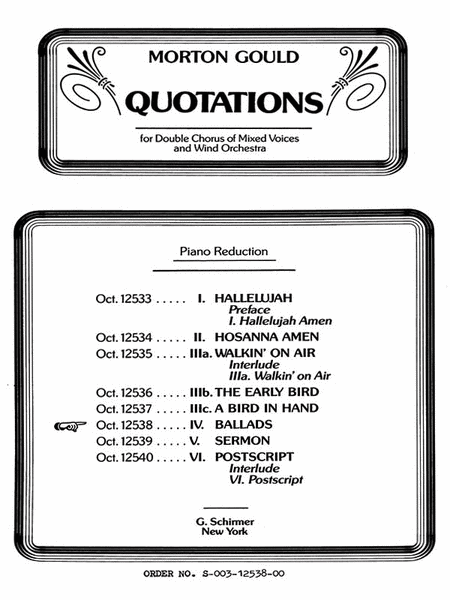 Ballads From Quotations With Orchestra