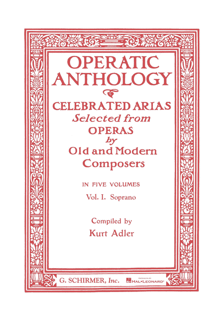 Operatic Anthology, Volume 1 - Soprano
