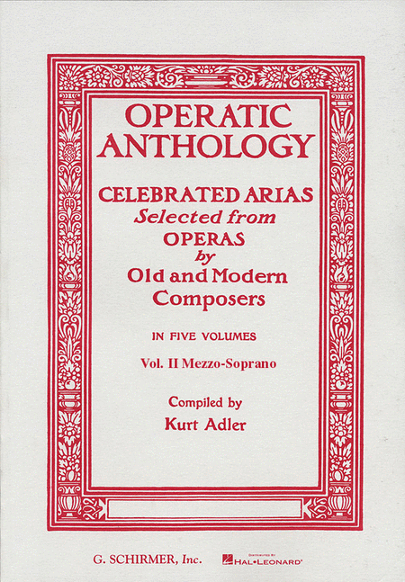 Operatic Anthology, Volume 2 - Mezzo-Soprano