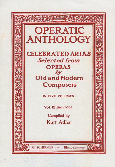Operatic Anthology, Volume 4 - Baritone