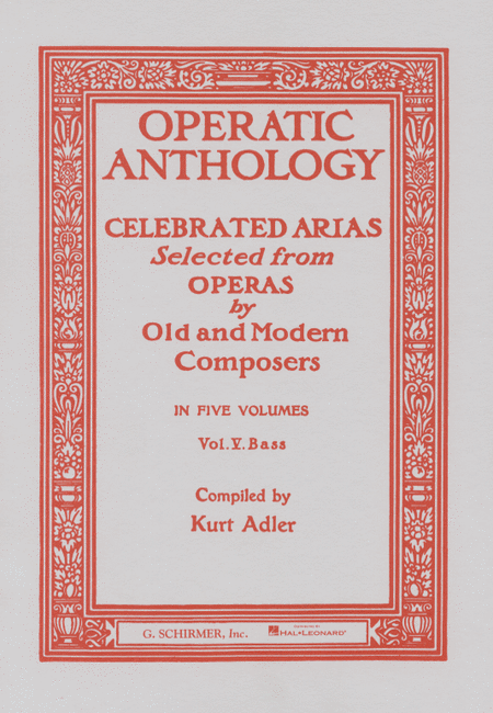 Operatic Anthology, Volume 5 - Bass