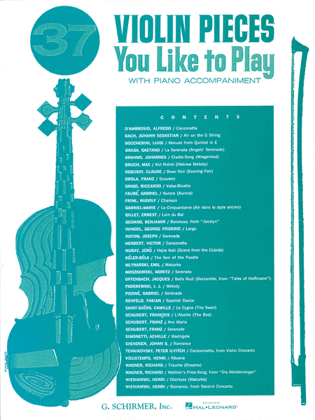 37 Violin Pieces You Like To Play - Violin/Piano