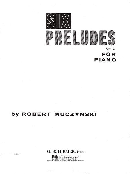 Six Preludes, Op. 6