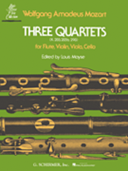 3 Quartets (K.285, K.285b and K.298)