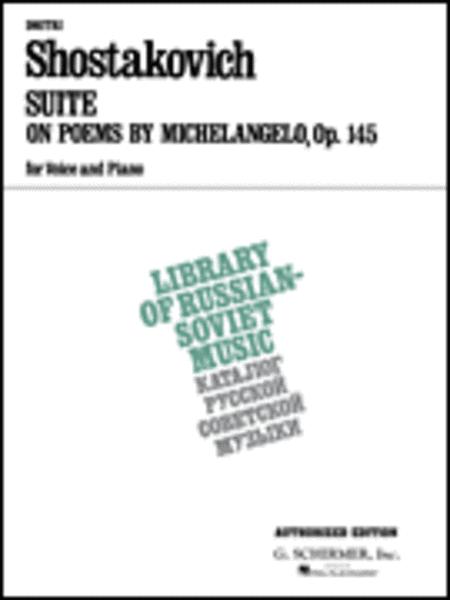 Suite on Verses of Michelangelo Buonarroti, Op.145