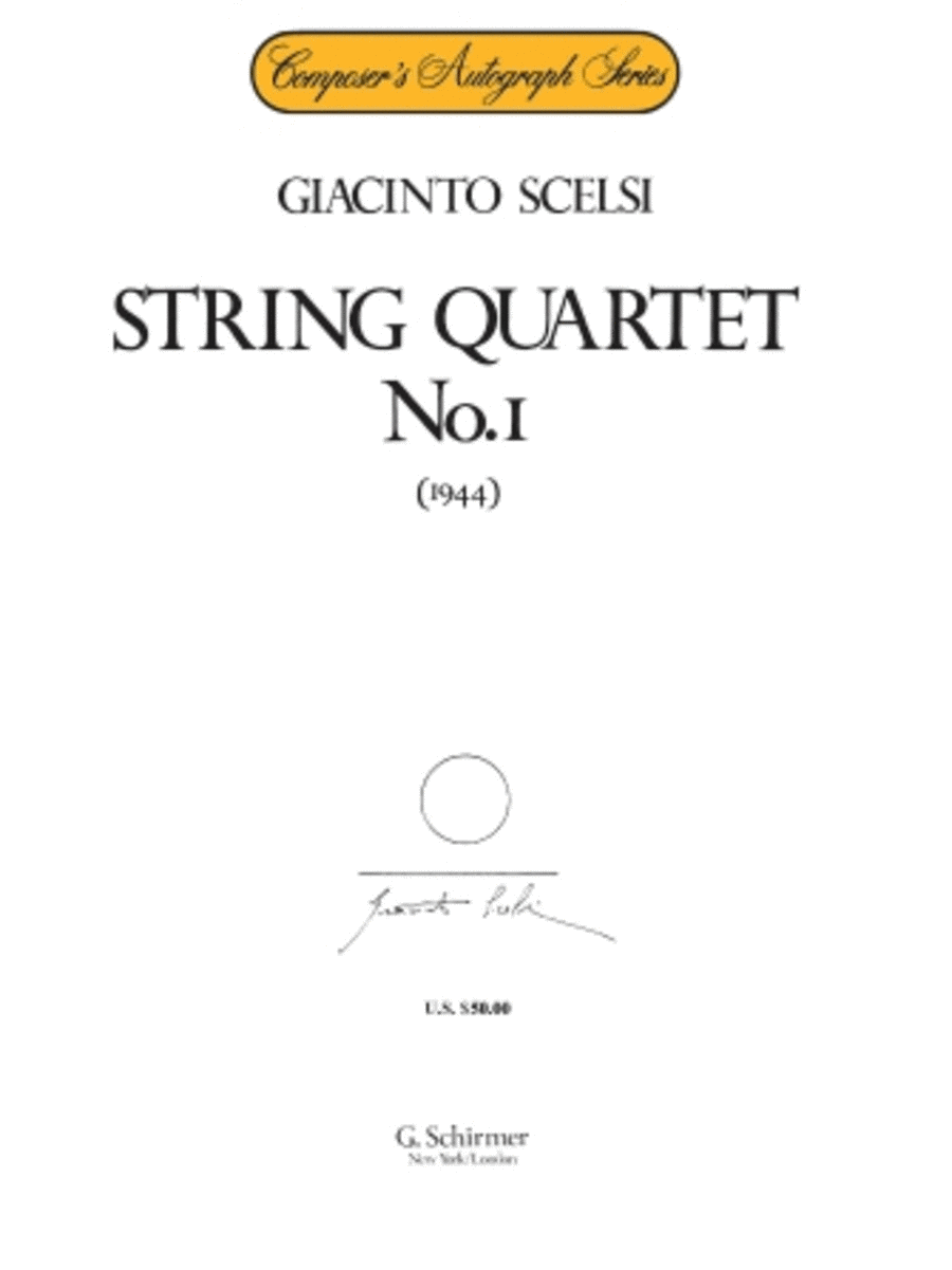 String Quartet No. 1 (1944)