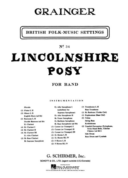 Lincolnshire Posy Score