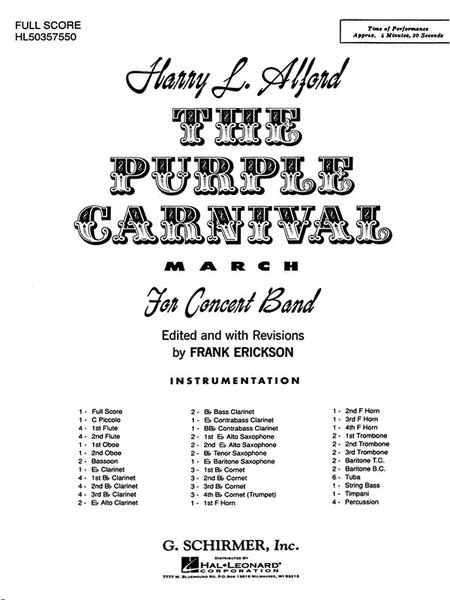 Purple Carnival Bd Full Sc March