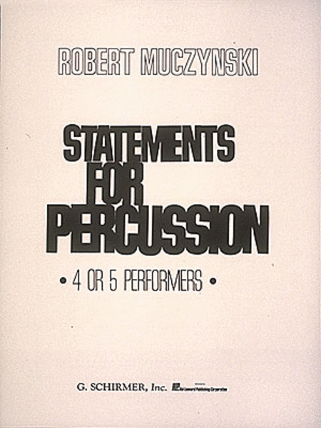 Statements for Percussion